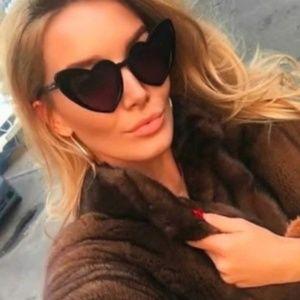 Accessories - ♡ NEW Lana Black Cat Eye Heart Shaped Sunglasses ♡